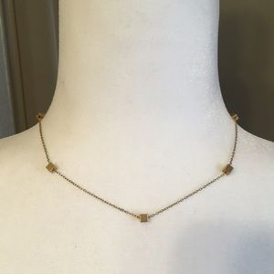"16"" gold necklace"